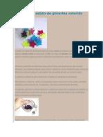 Como fazer sabão de glicerina colorido
