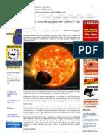 """SiteBarra » Cientistas encontram planeta """"gêmeo"""" da Terra"""