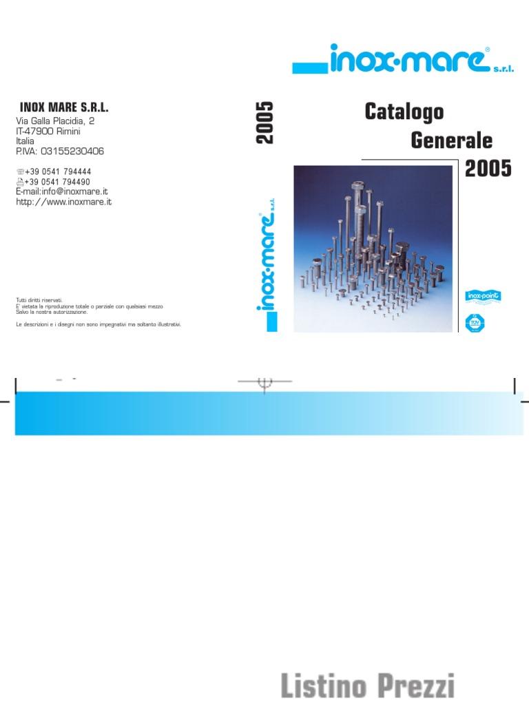 VITI TESTA ESAGONALE INTERAMENTE FILETTATE INOX A2 AISI 304 UNI 5739 DIN 933 M4
