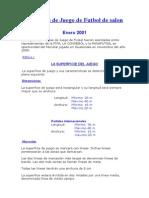 Reglas de Juego de Futbol de Salon 2001