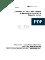Cuaderno XML Emision Adeudos SDD Core Noviembre 2012