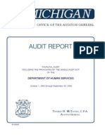 Michigan Audit of Department of Human Services 2004