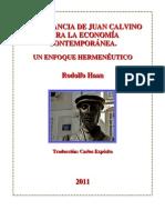 Rodolfo Haan Juan Calvino y la economía contemporánea