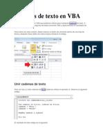 EXCEL Cadenas de Texto en VBA