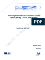 EU Ecolabel Criteria for Flushing Toilets and Urinals (Report)