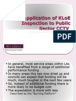 The Application of Inspection for CCTV (KLoEs)