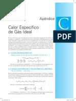 Fundamentos da Termodinâmica - Apêndice C (Calor Específico de Gás Ideal)