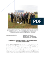 Community Leaders Celebrate Ground Breaking of School Solar Array
