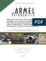 Sponsor Pack for the 2009 Carmel Artomobilia Car Show