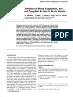 9. Fibrinolysis, Inhibitors of Blood Coagulation, and Monocyte Derived Coagulant Activity in Acute Malaria.pdf