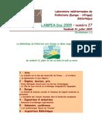 LAMPEA-Doc 2009 – numéro 27 / Vendredi 31 juillet 2009