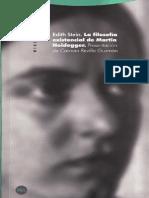 Stein Edith - La Filosofia Existencial De Martin Heidegger.pdf