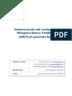 Determinación de NBVT en pescado