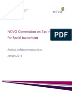 NCVO Commission on Tax Incentives for Social Investment