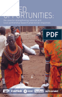 Missed Opportunities: The case for strengthening national and local partnership-based humanitarian responses