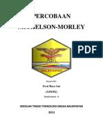 Percobaan Michelson-morley (Desti Maya Sari (1201302)