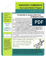 Anahuac Comeback August 2009 Newsletter