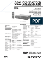 SONY DVP-S325 DVP-S525D DVP-S725D