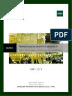 Guía antropología cognitiva y simbólica I - UNED