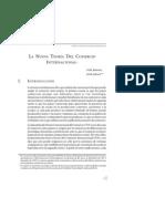 Nueva Teoría del Comercio Internacional