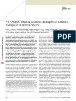 An APOBEC Cytidine Deaminase Mutagenesis Pattern Is