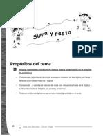 Guia Para Docentes Matematicas 3 - Tema 3 - Suma y Resta