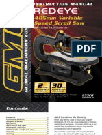 GMC LSSCR Scroll Saw User's Manual