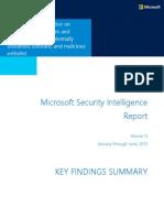 Microsoft Security Intelligence Report Volume 15 Key Findings Summary