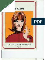 model 326 Empisal Knit Master User Manual