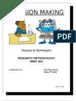 Decision Making(Process & Technique)