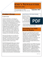 the friends newsletter september 2013 f