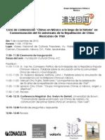 Programa Ciclo de conferencias Chinos en México UAM