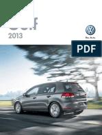 2013 Golf Brochure