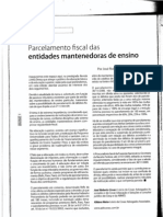 Artigo - Parcelamento Fiscal das Entidades Mantenedoras de Ensino