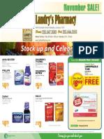 Landry's November Sales