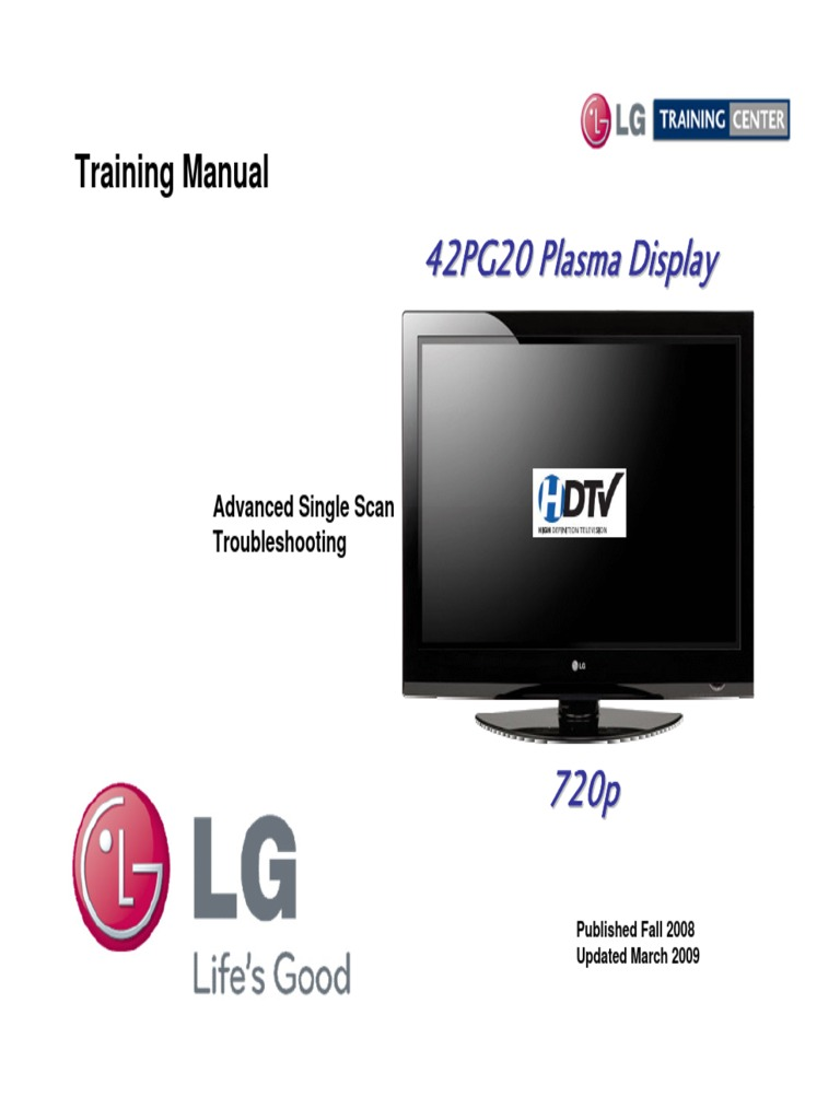 Lg-42pg20-Training-Manual.pdf | Power Supply | High Definition Television