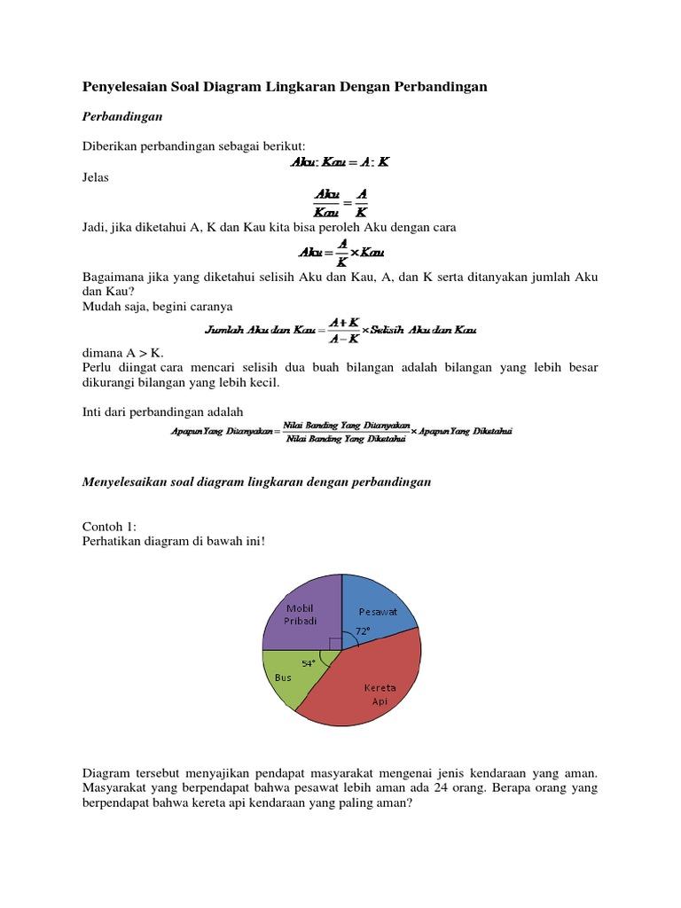 Penyelesaian soal diagram lingkaran dengan perbandingancx ccuart Choice Image