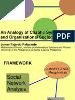 ICMEP Rabajante Organizational Sociogram and Chaos Theory