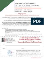 suso nonviolence training flyer nov 2013-1