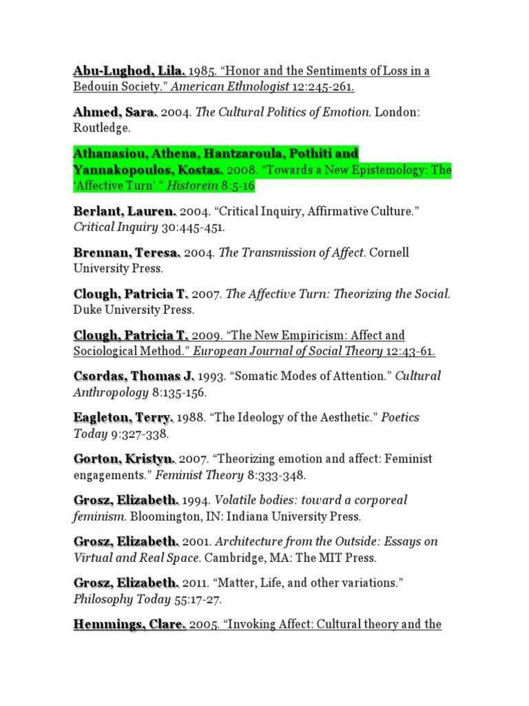 the cultural politics of emotion pdf