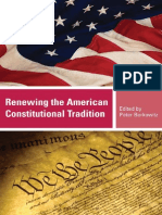 Renewing the American Constitutional Tradition, Edited by Peter Berkowitz