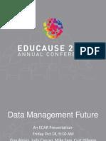 Data Management Future