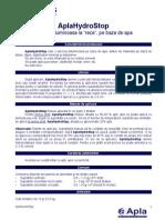 Fisa Tehnica Amorsa Bituminoasa Apla Hydrostop 5000730 5000876