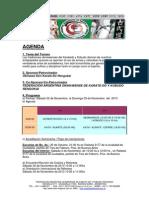 Agenda 2do Encuentro Sudamericano