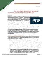 Diez Aspectos Principales a Considerar Al Evaluar Soluciones de Comunicaciones Unificadas