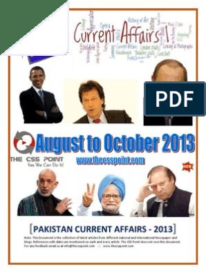 Pakistan Current Affairs - 2013