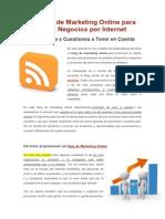 Un Blog de Marketing Online Para Hacer Negocios Por Internet