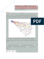 Por qué las fuerzas radiales dependen de la inversa de la distancia al cuadrado