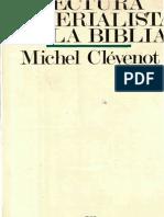 CLÉVENOT, Michel, Lectura materialista de la Biblia (BEB 22, Salamanca 1978)