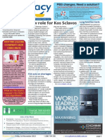 Pharmacy Daily for Fri 01 Nov 2013 - New role for Kos Sclavos, Cenovis kicks a goal, GSK-Gates partnership, MIMS update and much more